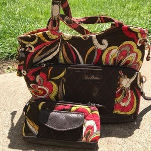 Retired Vera Bradley Puccini handbag bundle
